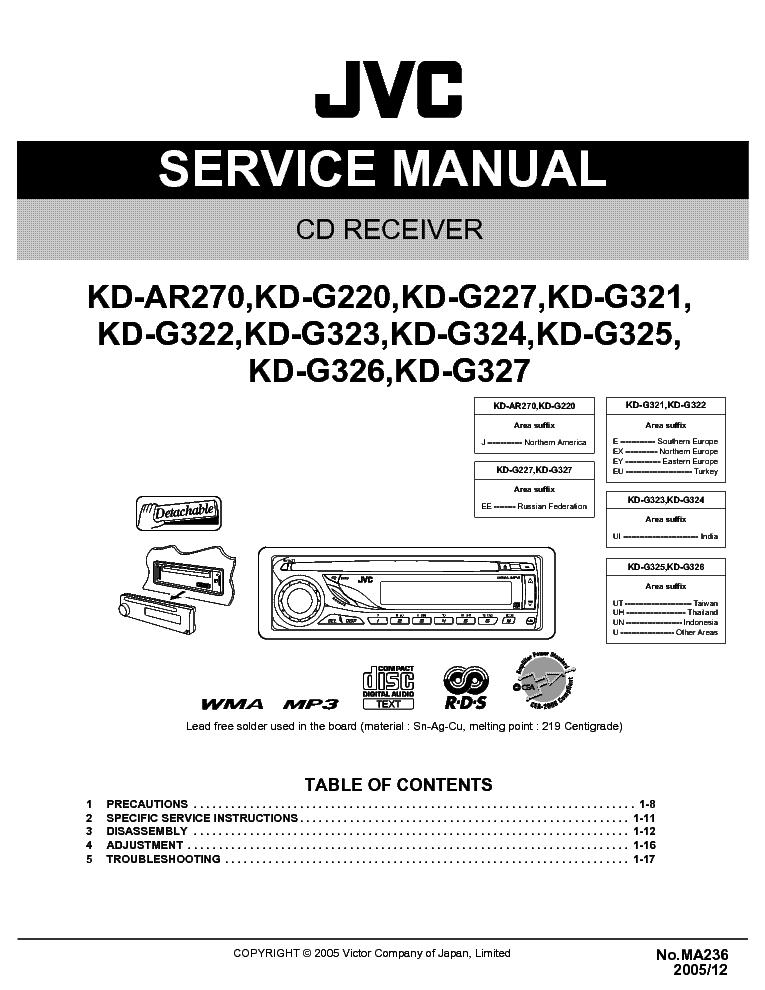JVC KD-AR270 KD-G220 KD-G227