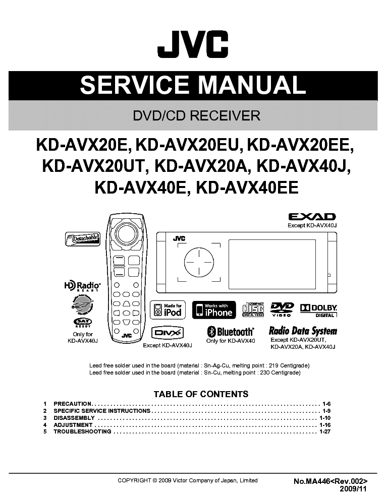 jvc_kd avx20_kd avx40 ma446 .pdf_1 jvc kd r540 wiring diagram jvc wiring harness diagram, panasonic jvc kd r540 wiring harness at crackthecode.co
