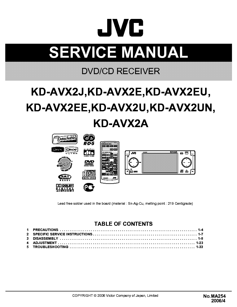 jvc_kd axv2_sm.pdf_1 jvc ks ax6700 service manual download, schematics, eeprom, repair jvc kd r320 wiring diagram at soozxer.org