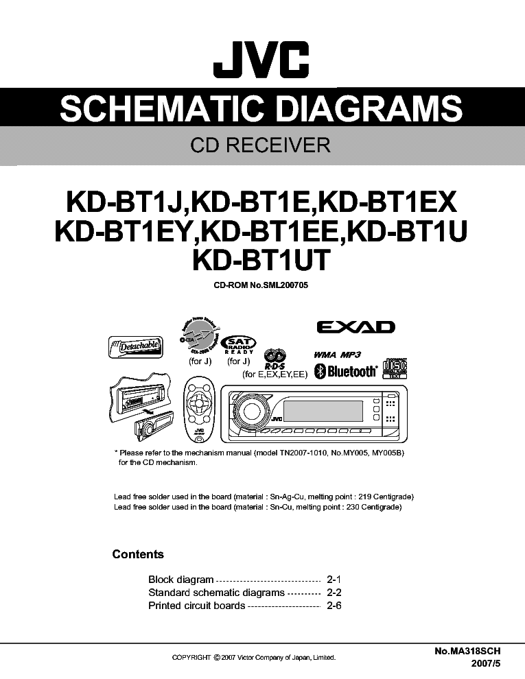 jvc kd bt1 service manual download schematics eeprom repair info rh elektrotanya com jvc kd-bt1 manual pdf jvc kd-bt1 manual pdf