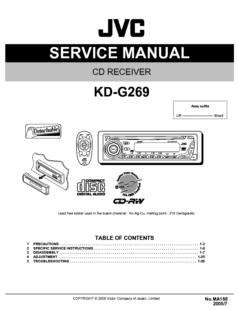 jvc kd s26 wiring harness Jvc Kd G Wiring Diagram on