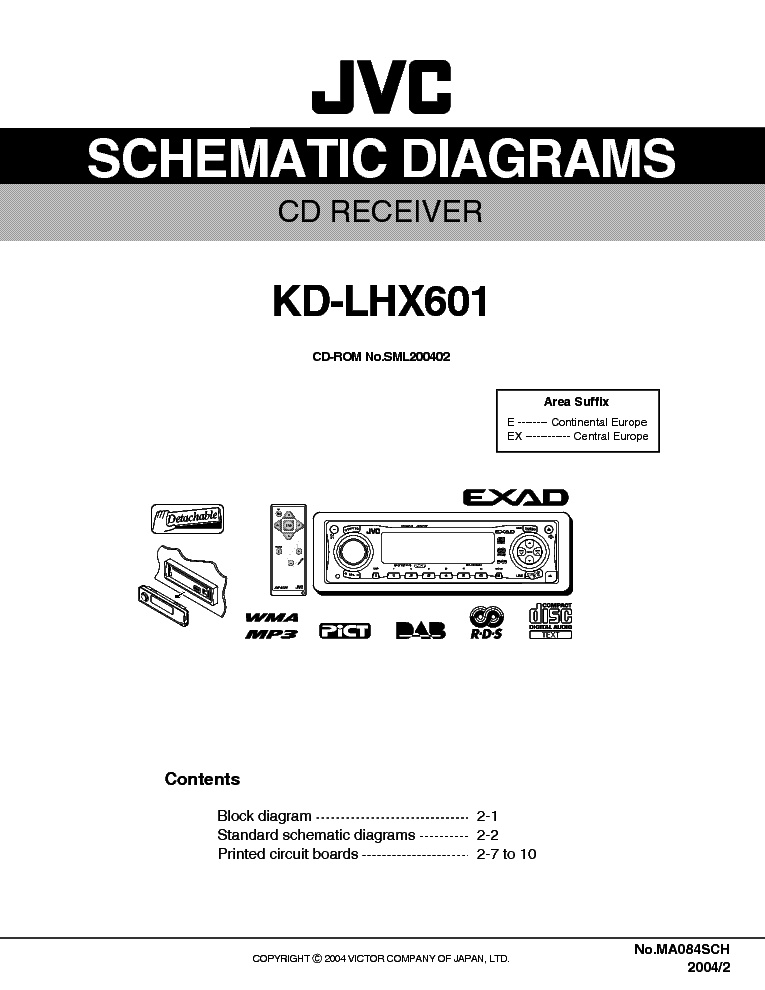 JVC    KDLHX601 SCH Service    Manual    download     schematics