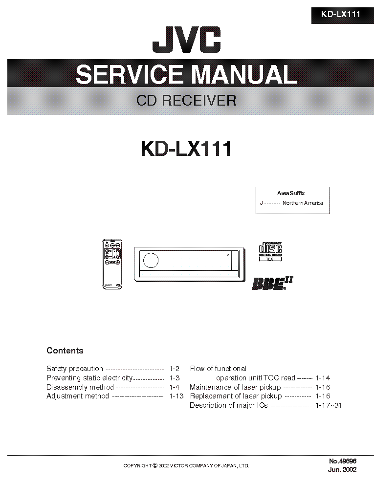 JVC KDGS828R Service Manual download schematics eeprom repair – Jvc Cd Receiver Wiring Diagram Kd Lx111