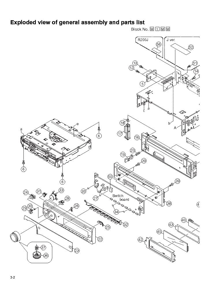 jvc kdr200 r201 r203 r207 s16 parts list service manual