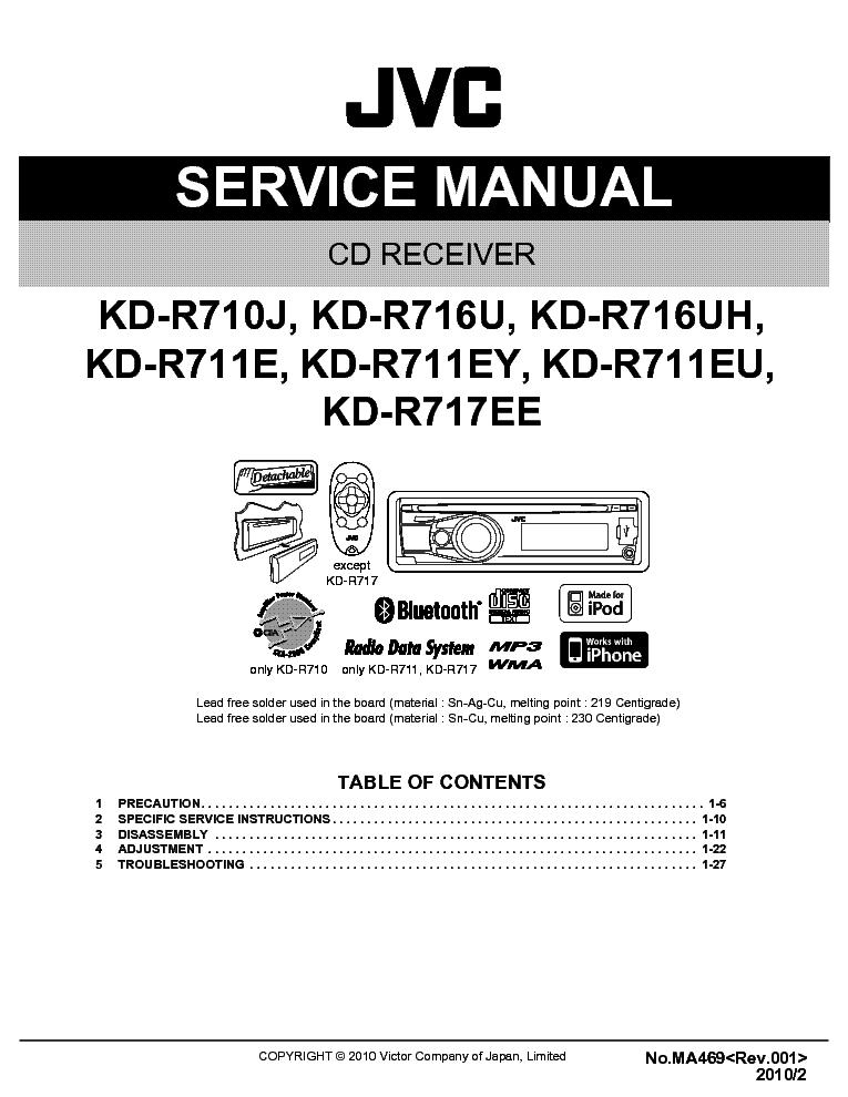 jvc kd r710 kd r716 kd r711 kd r717 sm service manual download rh elektrotanya com jvc tv repair manual Chilton Manuals
