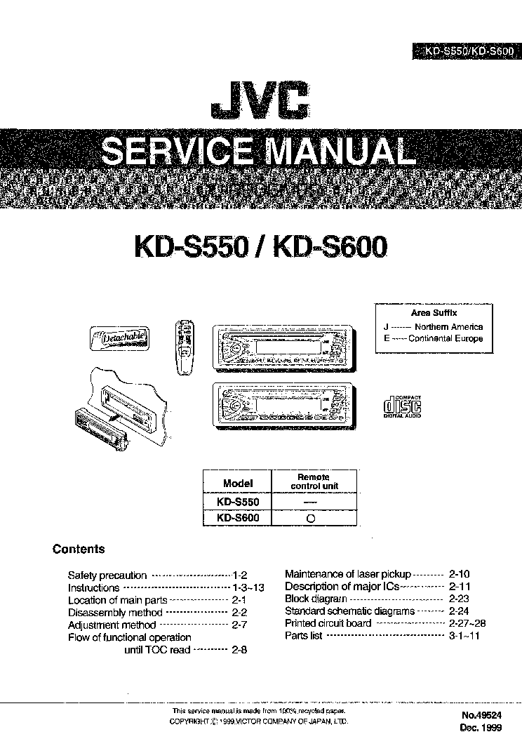 jvc_kd s550_kd s600.pdf_1 jvc kd s550 kd s600 service manual download, schematics, eeprom jvc kd-s550 wiring diagram at fashall.co