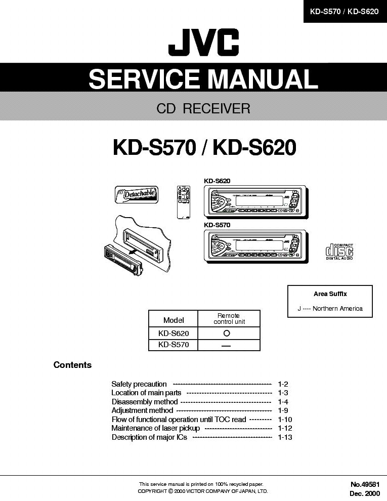JVC KD-S570 KD-S620-49581- Service Manual download, schematics ... on