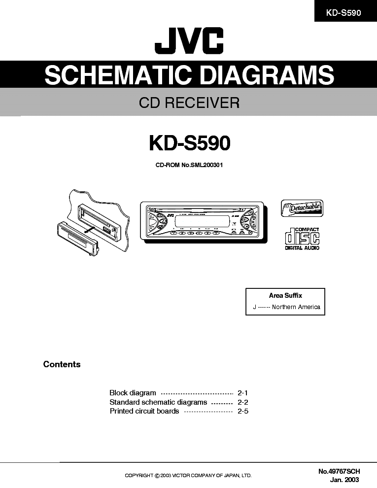 jvc kd s590 sch service manual download, schematics, eeprom, repair Kenwood Car Stereo Wire Harness