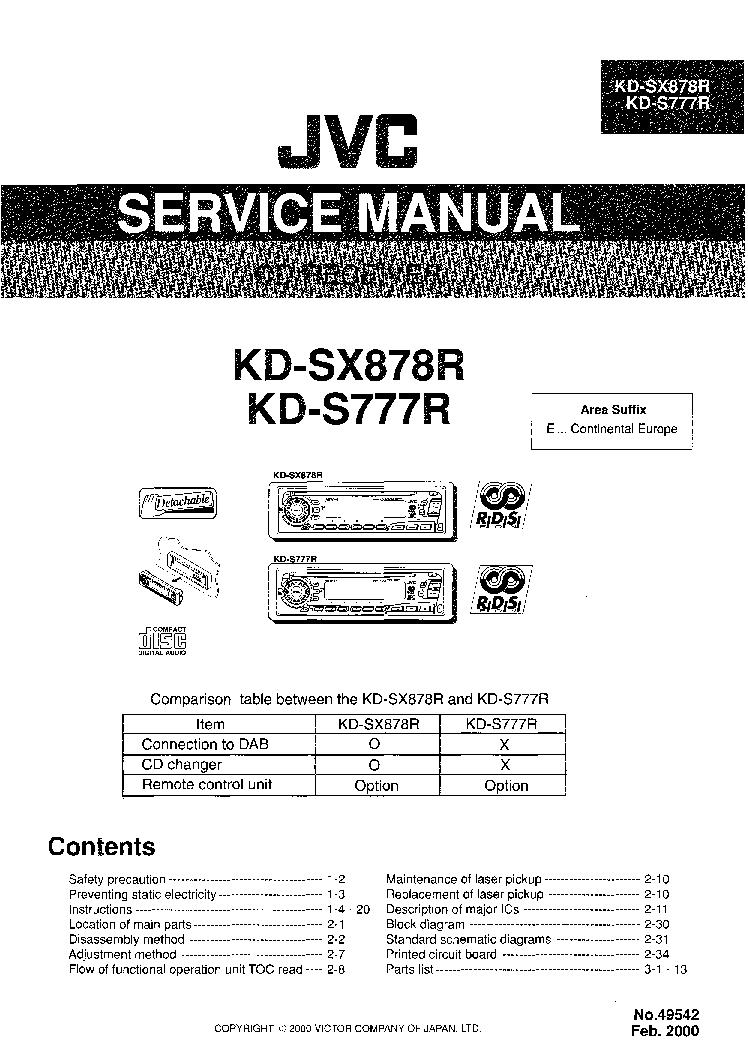 JVC KD-S777R KD-SX878R service manual (1st page)