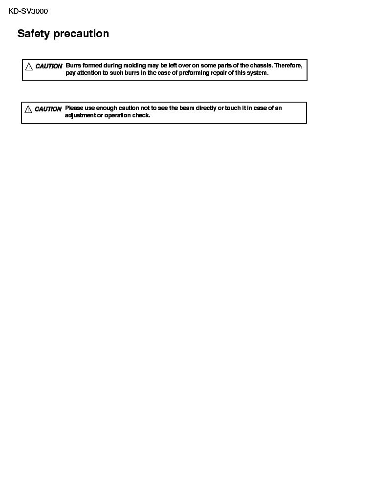 Jvc Kd Sv3000 Sch Service Manual Download Schematics Eeprom