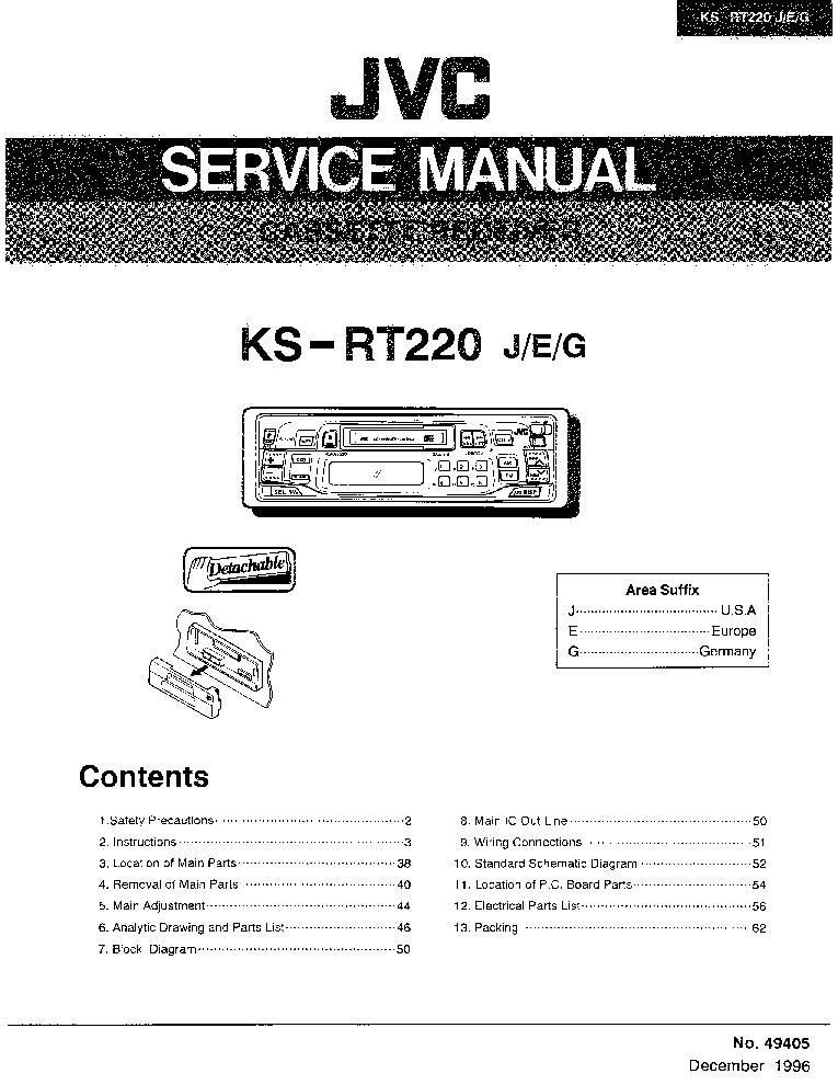 JVC    KSRT220 SM Service    Manual    download     schematics