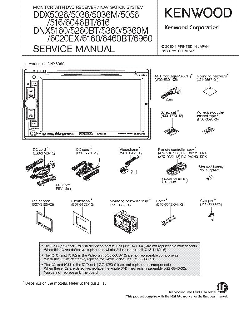 Kenwood Ddx service manual on
