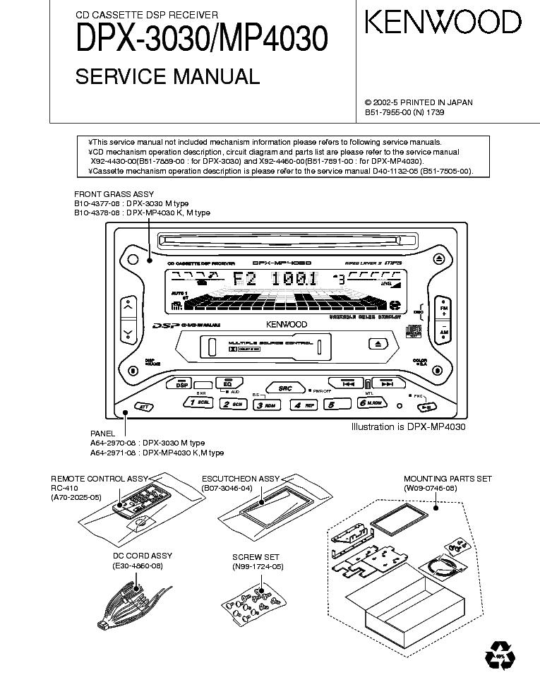 Kenwood Dpx mp4030 manual