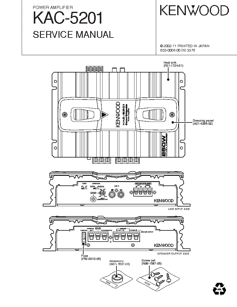 kenwood amp kac 21od wiring diagram