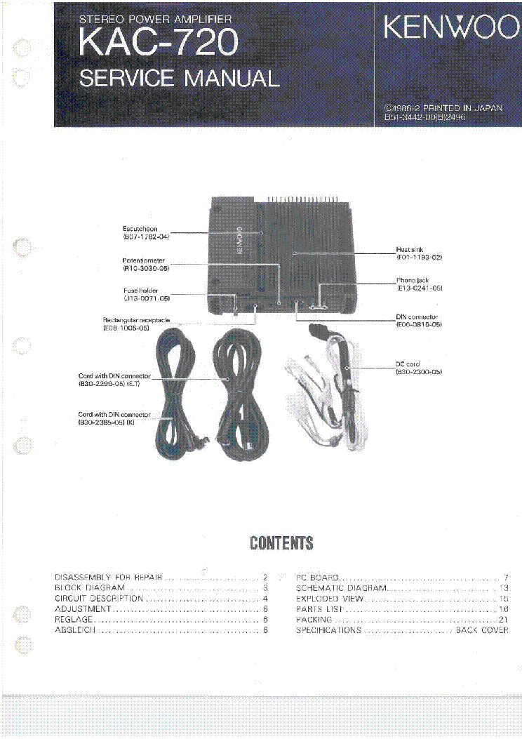 kenwood_kac 720.pdf_1 kenwood kac 720 service manual download, schematics, eeprom Kenwood Model KDC Install Wiring at pacquiaovsvargaslive.co