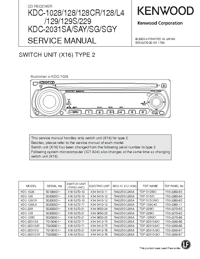 kenwood_kdc 1028 128 129 229 2031_type 2_sch.pdf_1 kenwood kdc 128 wiring harness wiring schematics and wiring diagrams kenwood kdc 138 wiring harness at panicattacktreatment.co
