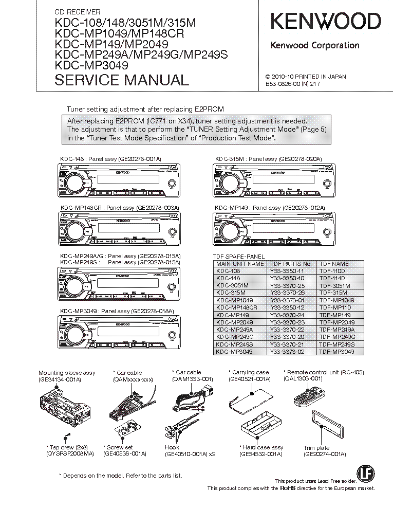 Kenwood Kdc 108 Stereo Wiring Diagram