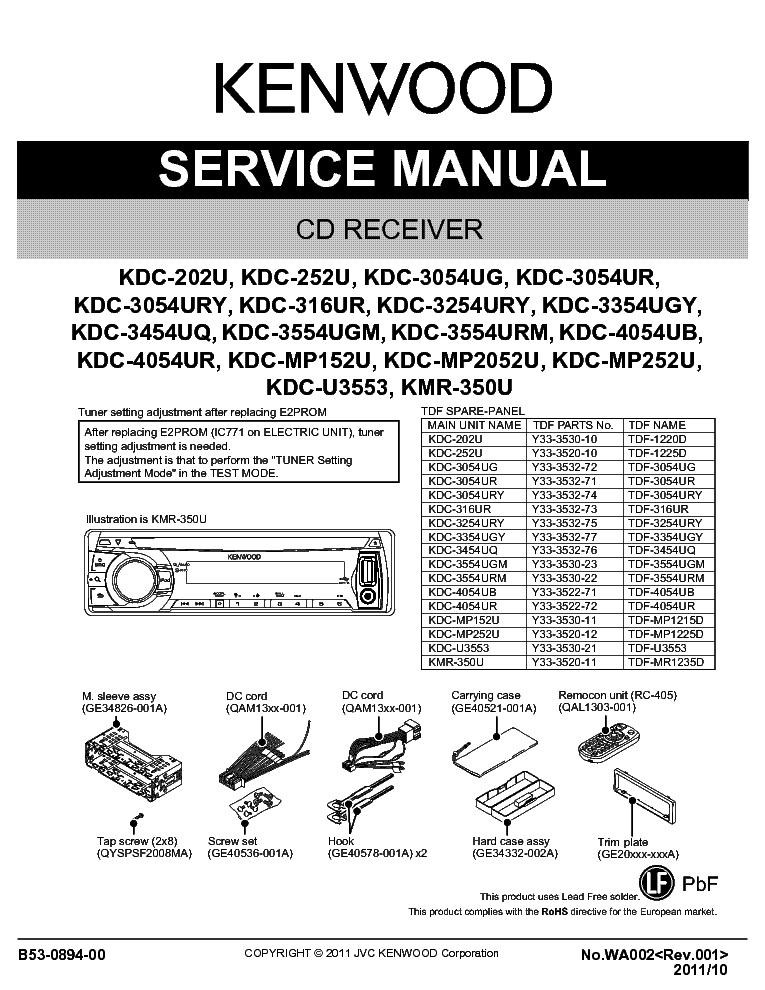 kenwood kdc 202u 252u 3054ug 3054ur 3054ury 316ur 3254ury 3354ugy rh elektrotanya com Kenwood Manuals DNX9960 4028 Kenwood User Manuals Printable