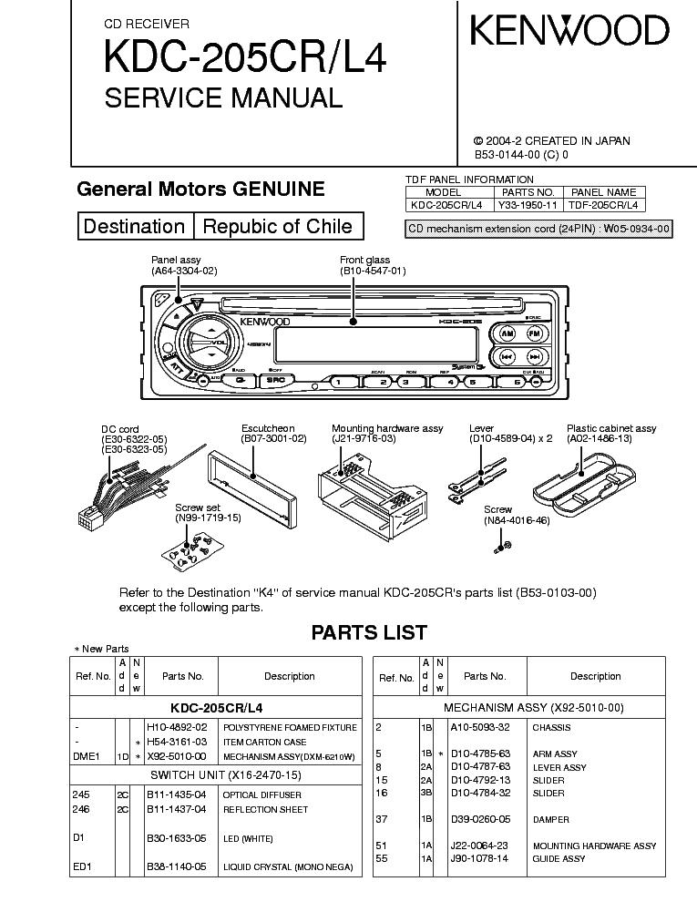 Wiring Diagram For Kenwood Kdc Mp145 : Kenwood harness kdc cd product elsavadorla