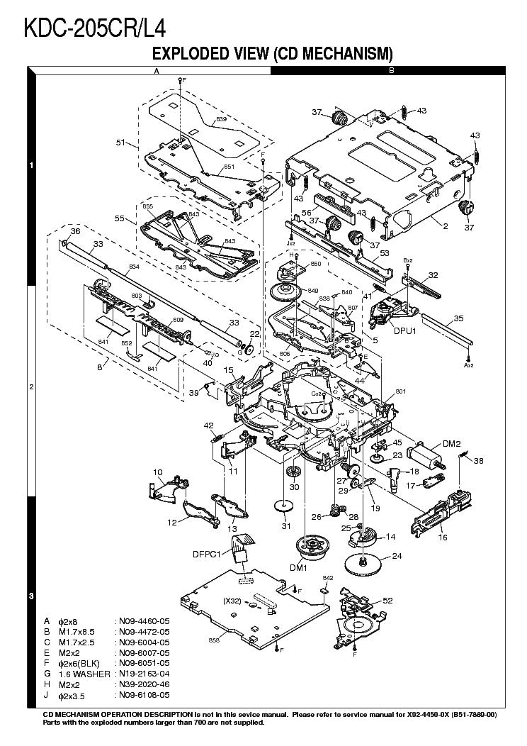 Kenwood Kdc 205cr L4 Service Manual Download Schematics Eeprom