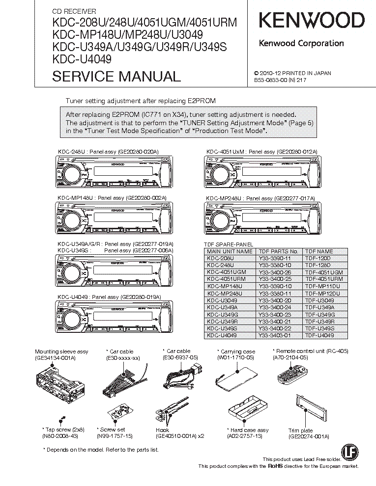 Wiring Diagram Kenwood Excelon Kdc X597