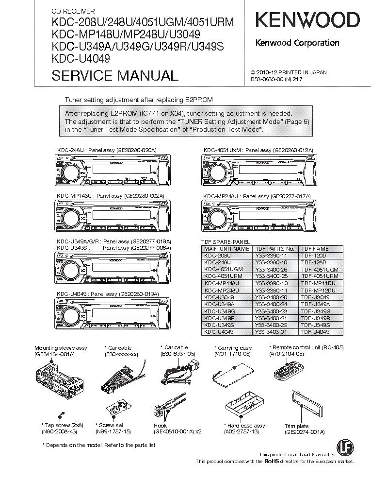 car stereo wire diagram kenwood kdc 1022 car diy wiring diagrams description kenwood kdc 208u 248u 4051ug urm mp148u mp248u u3049 u349a g r