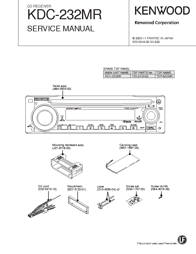 kenwood kdc 232mr service manual download schematics eeprom rh elektrotanya com