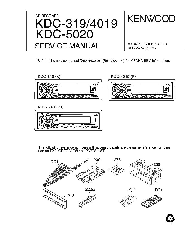 Kenwood Krc 594 Sm Service Manual Download Schematics Eeprom Kdc Mp4028 Wiring Diagram 319