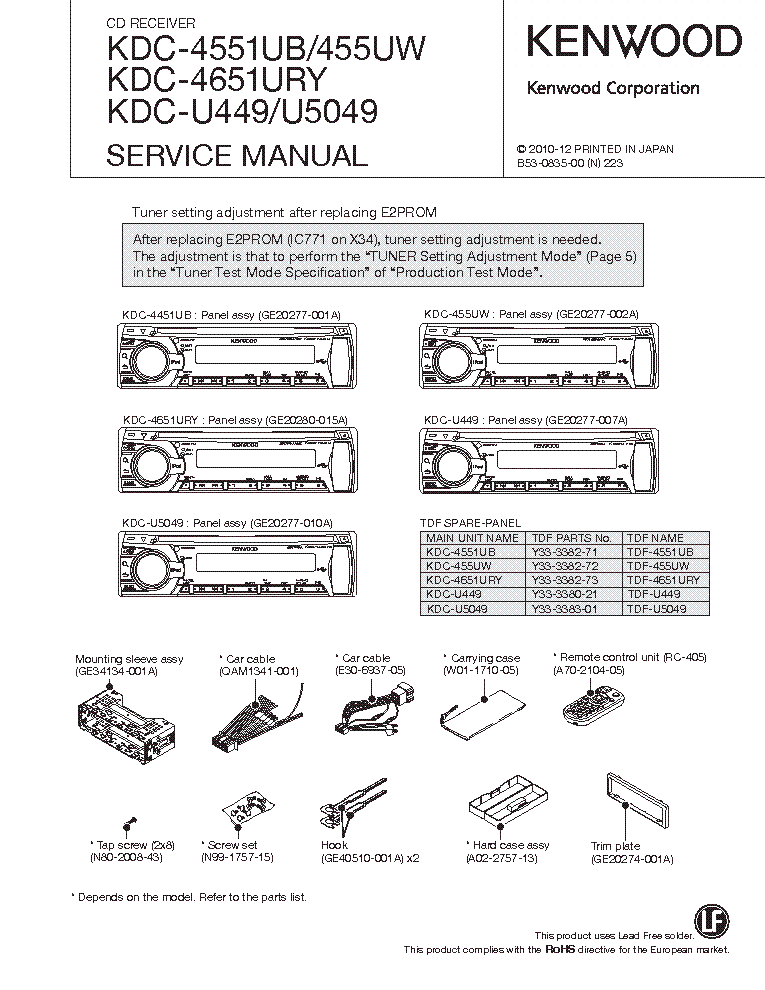 kenwood_kdc 4551ub_455uw_4651ury_u449_u5049.pdf_1 kenwood kdc mp342u wiring diagram wiring diagram and schematic kenwood kdc mp145 wiring diagram at alyssarenee.co