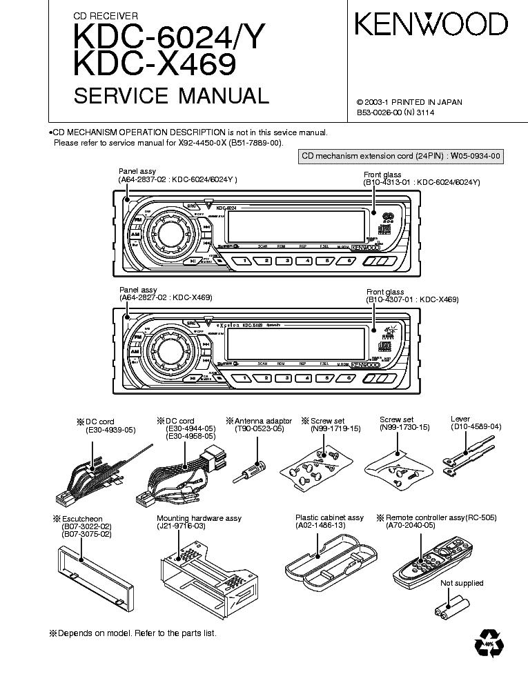 Kenwood Kdc X595 Wiring Diagram.Kdc.Auto Engine Wiring Diagrams