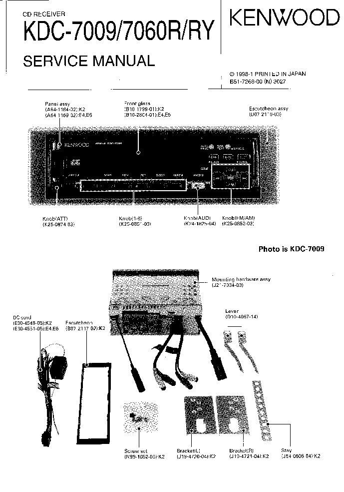 Kenwood Kdc-7009 Manual