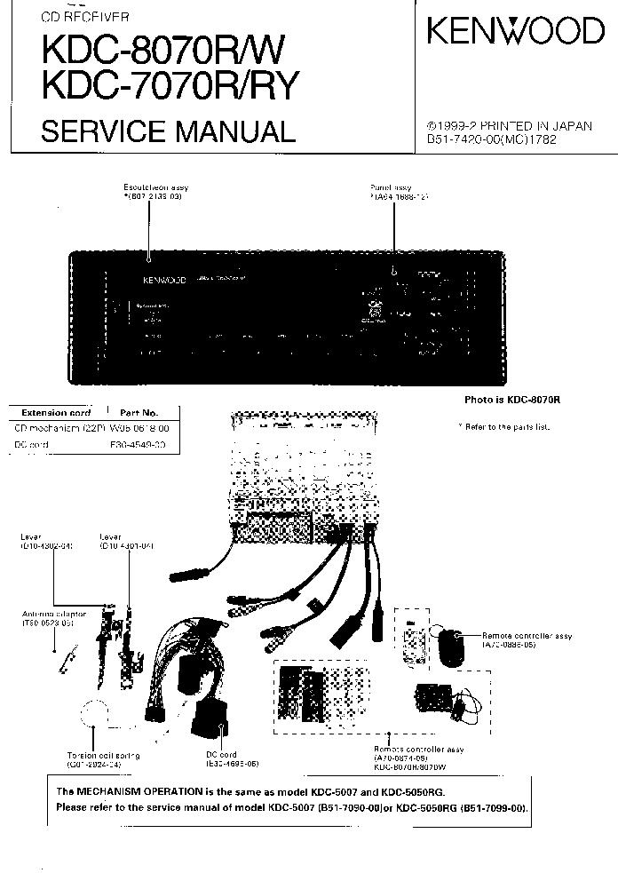 Kenwood Kdc 108 Wiring Diagram