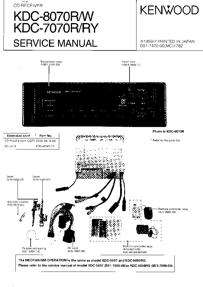 Wiring Diagram Kenwood Equalizer : Kenwood kgc a wiring diagram