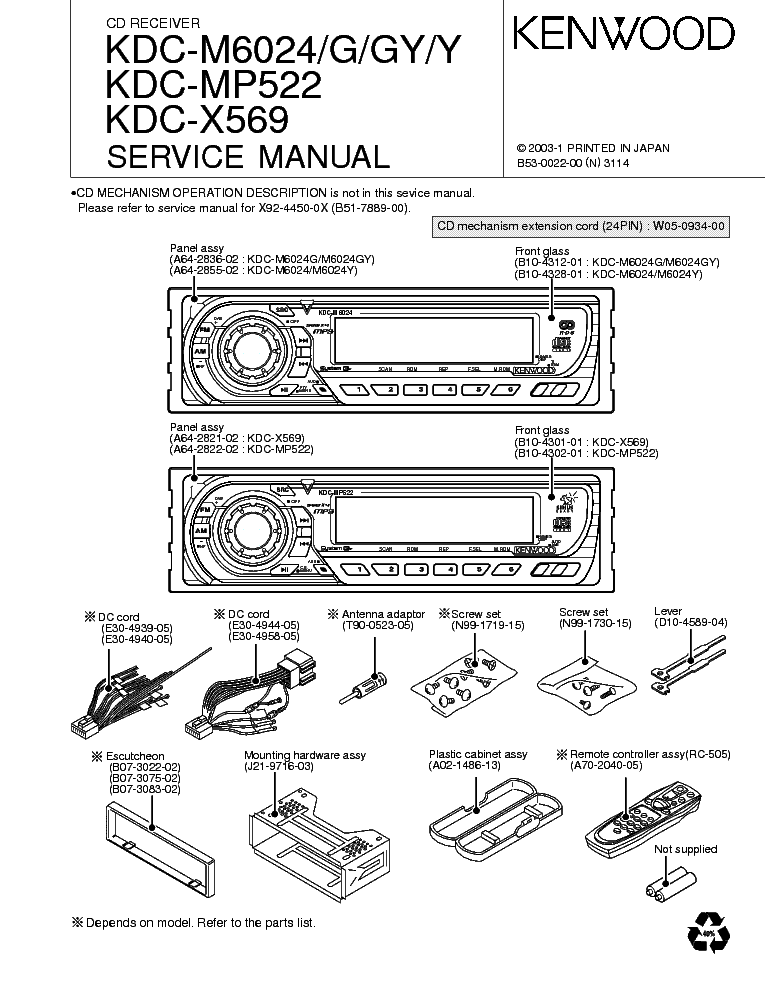kenwood kdc mp522 manual online user manual u2022 rh pandadigital co Kenwood KDC- 138 kenwood kdc-mp522 manual
