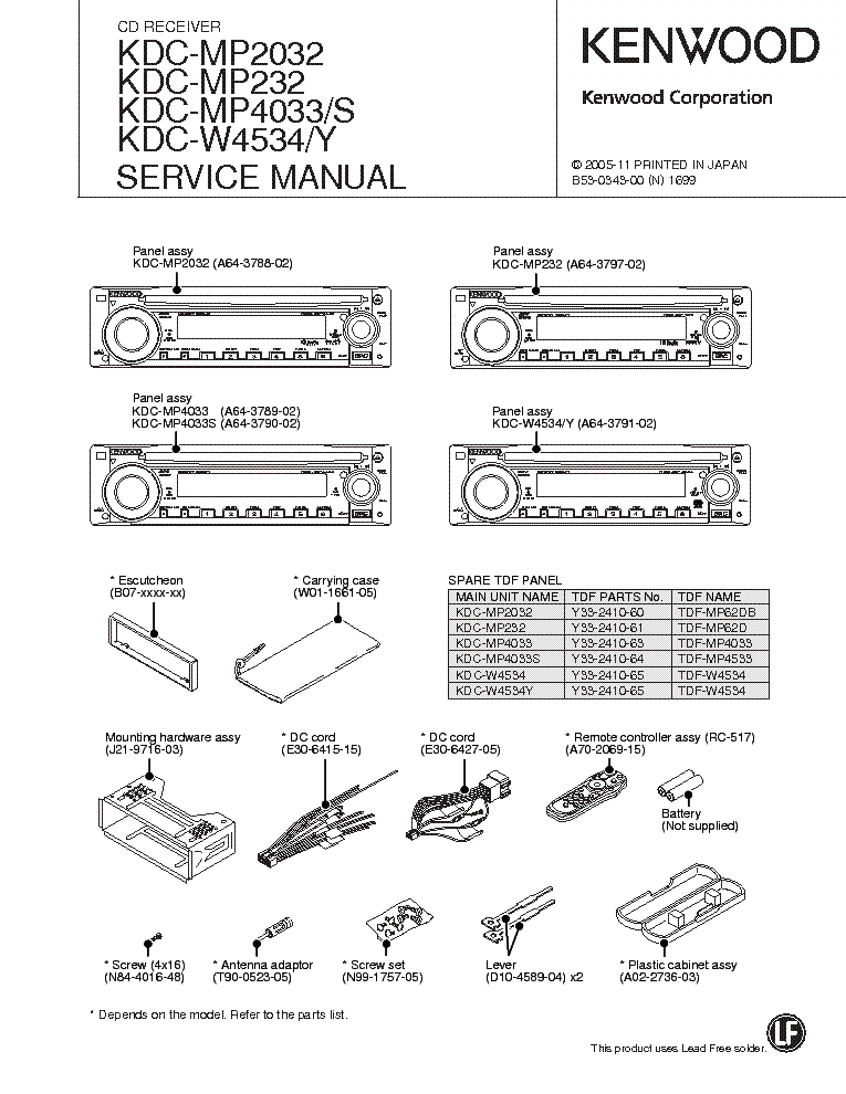 kenwood kdc mp2032 mp232 mp4033 w4534 service manual download kenwood kdc-mp728 wiring diagram kenwood kdc mp2032 mp232 mp4033 w4534 service manual (1st page)