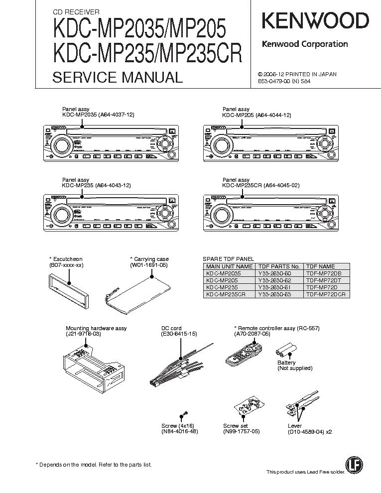 Wiring Diagram For Kenwood Kdc Mp4032 : Kenwood kdc hd u cd receiver service manual download