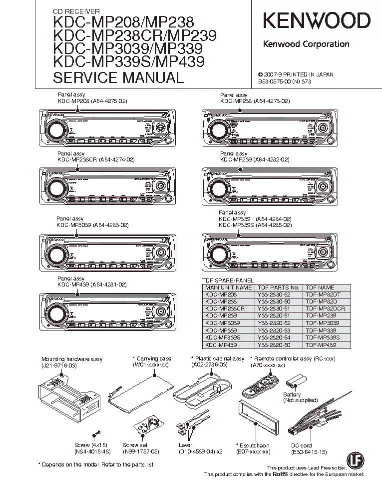 kenwood kdc mp238 wiring diagram kenwood diy wiring diagrams