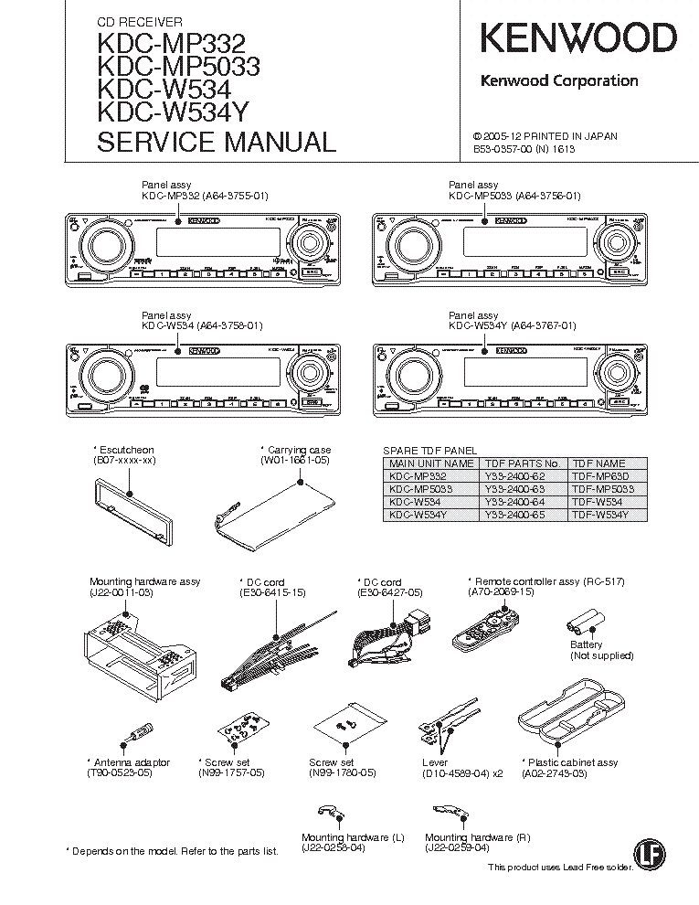 kenwood_kdc mp332.pdf_1 kenwood kdc mp332 service manual download, schematics, eeprom kenwood kdc 122u wiring diagram at gsmportal.co