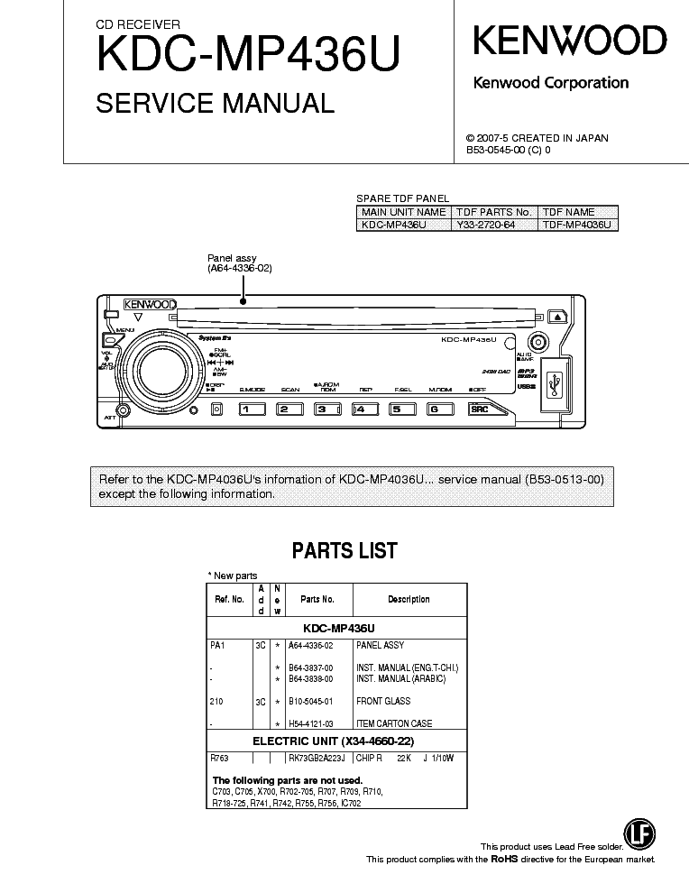 Kenwood kac m wiring diagram