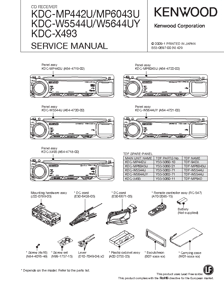 Wiring Diagram For Kenwood Kdc 252u : Kenwood car stereo wiring diagrams kdc get