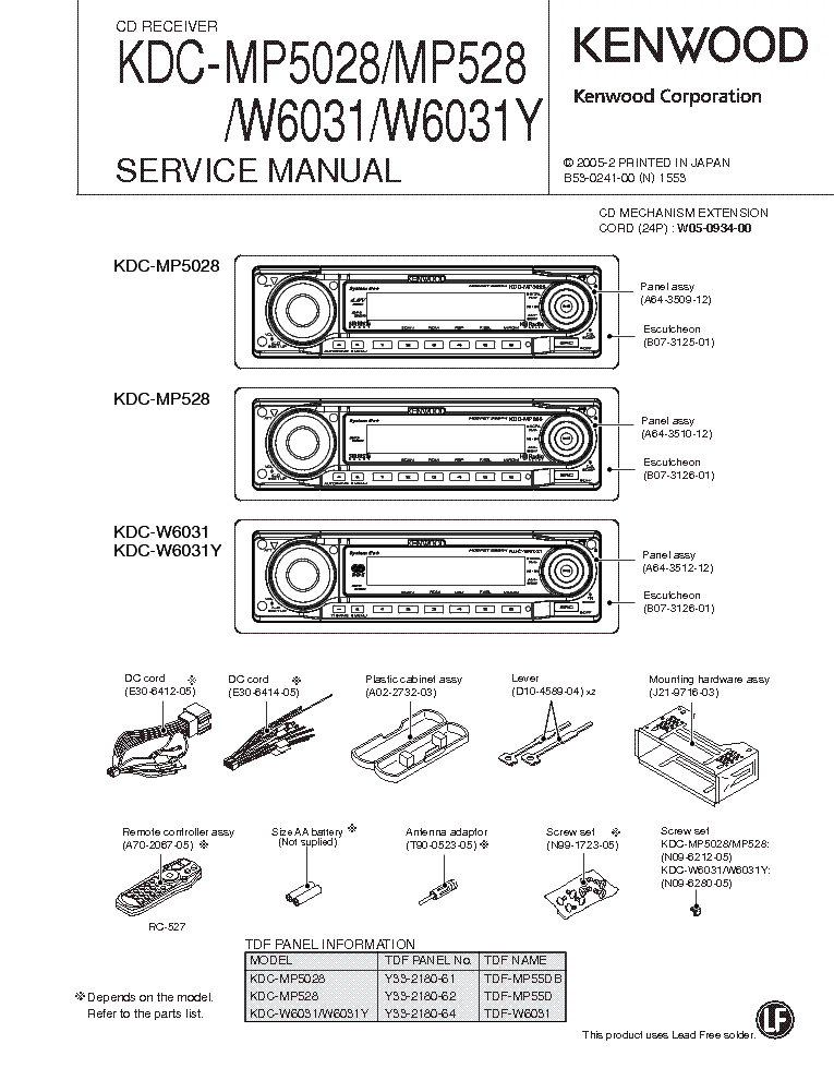 kenwood_kdc mp5028_kdc mp528_kdc w6031_kdc w6031y.pdf_1 kenwood kdc 92r sch service manual download, schematics, eeprom kenwood kdc mp528 wiring diagram at bakdesigns.co