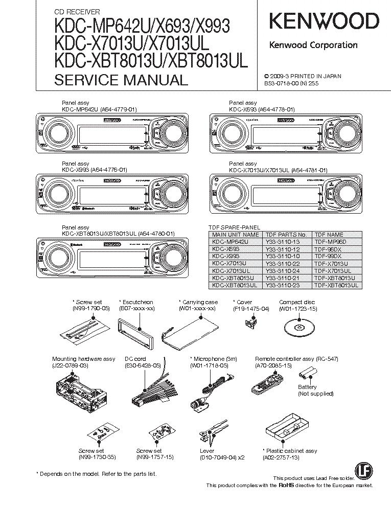 kenwood excelon kdc x693 manual