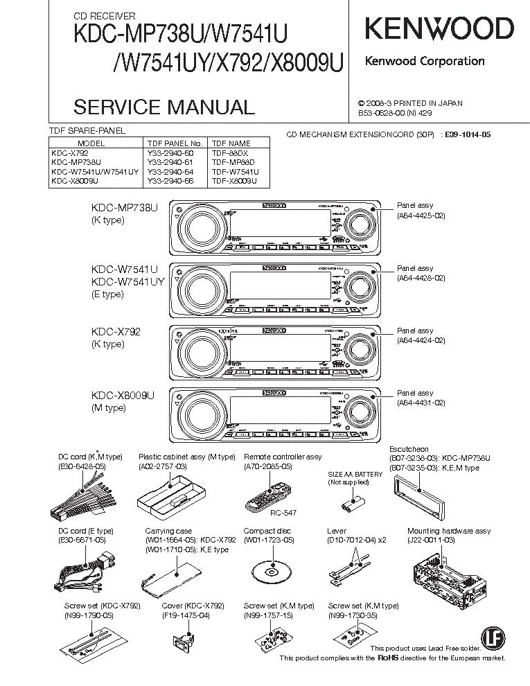 Kenwood Krx 792 Manual