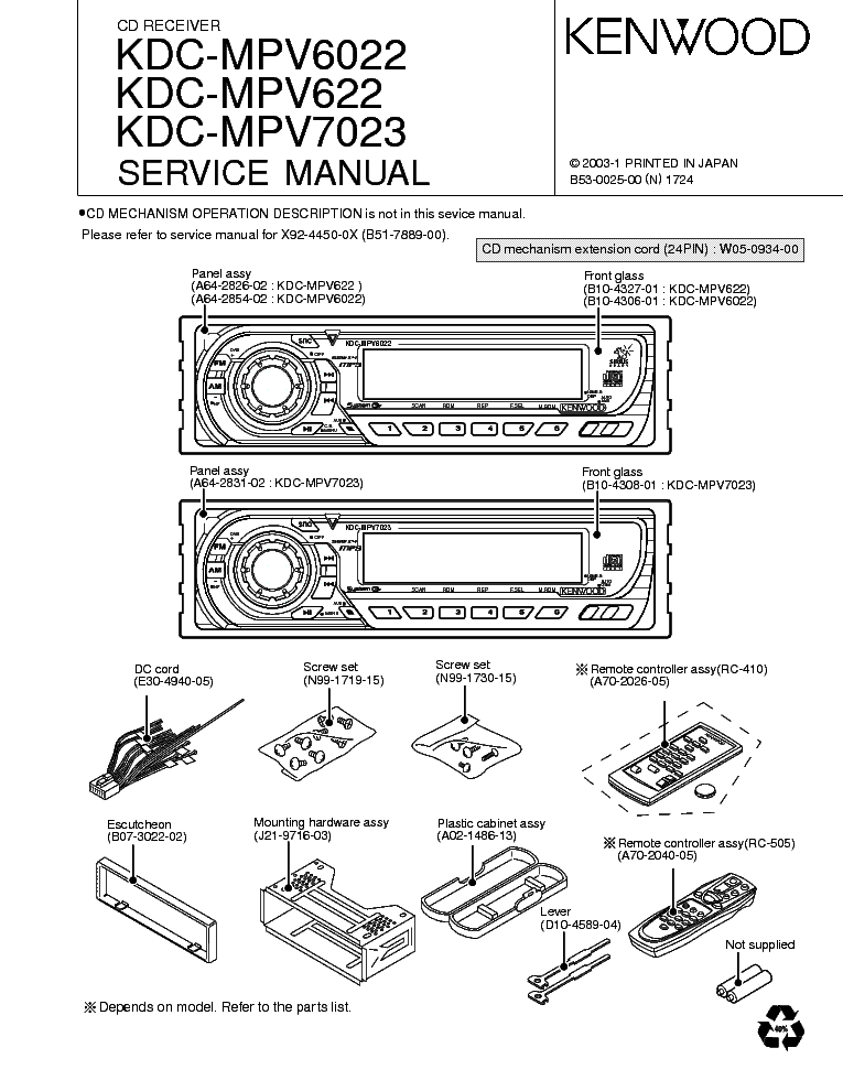 kenwood kdc mpv6022 mpv622 mpv7023 service manual download rh elektrotanya com Kenwood Car Audio Manual Wiring-Diagram Kenwood KDC-MP235