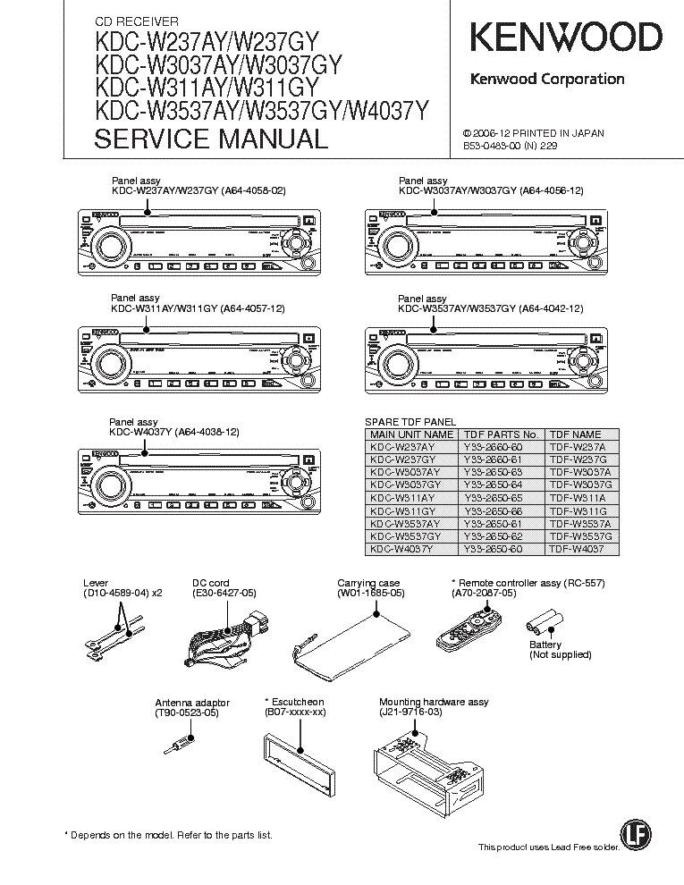 Инструкция KENWOOD KDC W 4037