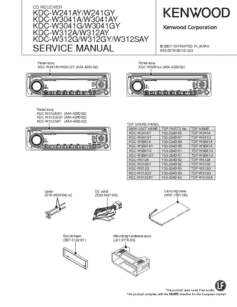 Kenwood kdc-w312gy инструкция