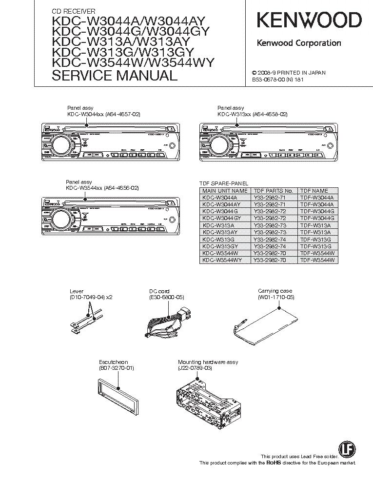 Kenwood kdc w3044 инструкция