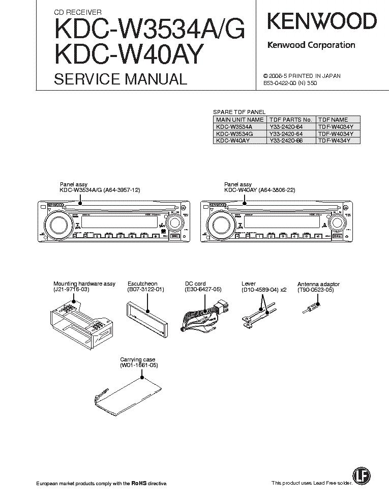 инструкция kdc w410y магнитола kenwood