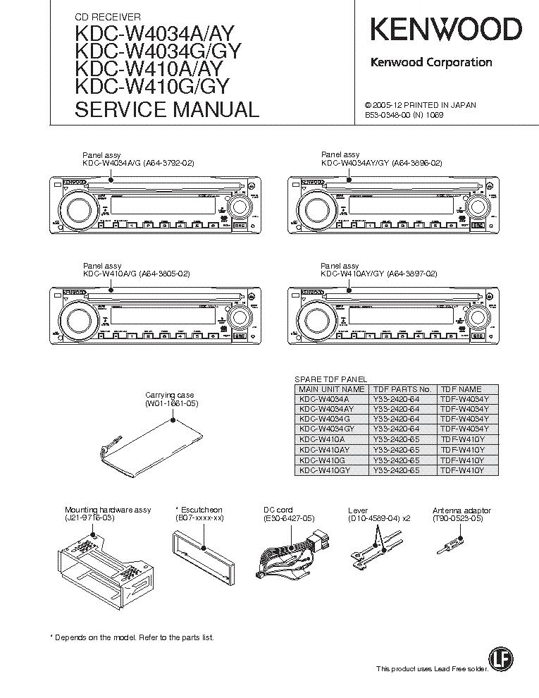 Kdc w6534u Manual on