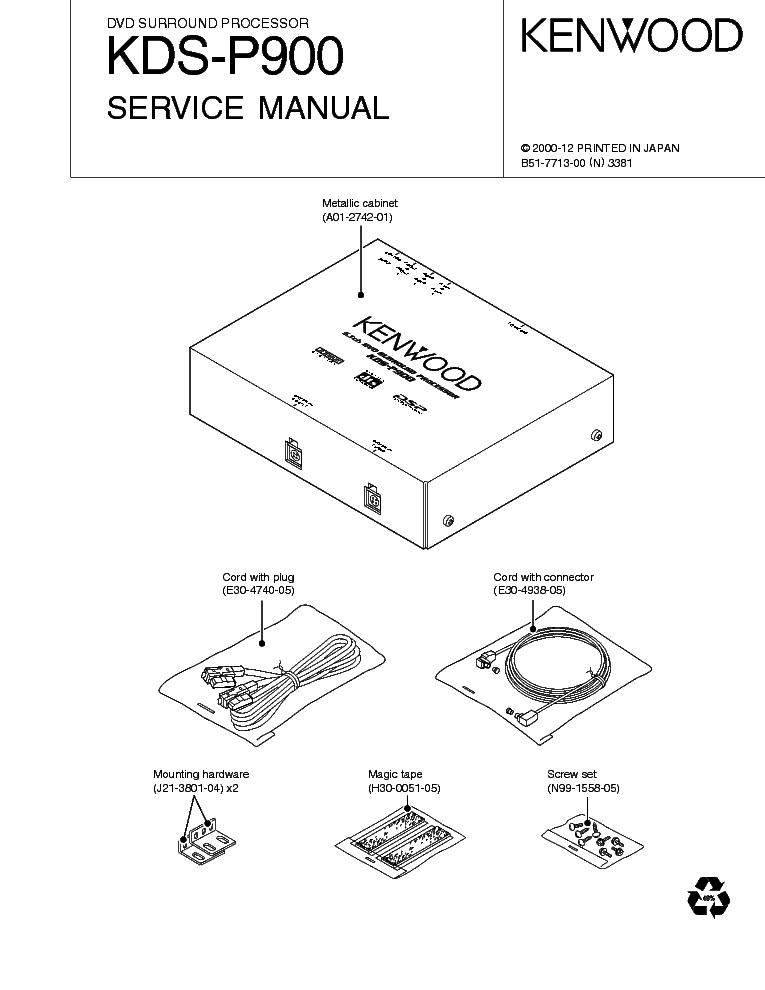 Kenwood Kds P900 Service Manual Download Schematics Eeprom Repair